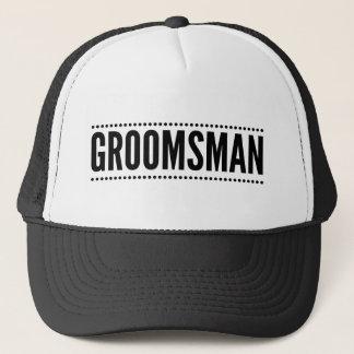 Gorra del camionero del padrino de boda