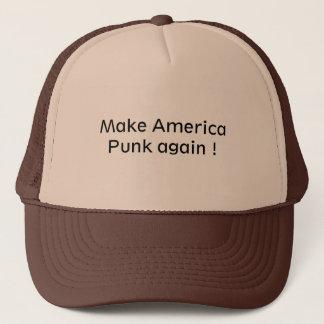 Gorra del camionero para un amante punky