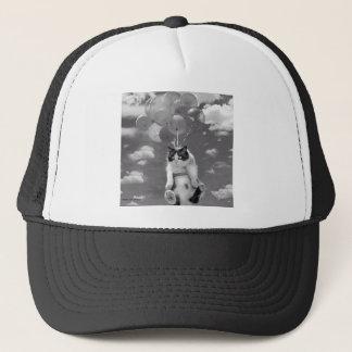 Gorra del camionero: Vuelo divertido del gato con