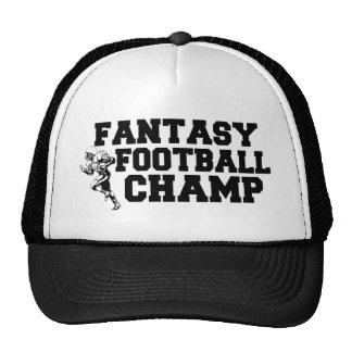 Gorra del campeón del fútbol de la fantasía