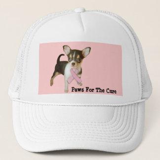 Gorra del cáncer de pecho de la chihuahua
