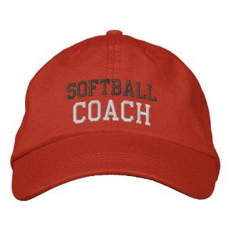 Gorra del coche del softball del texto del carbón