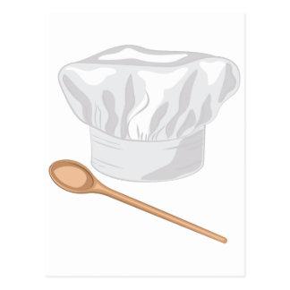 Gorra del cocinero postal
