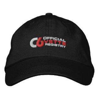 Gorra del color oscuro del bordado del logotipo de gorra de beisbol bordada