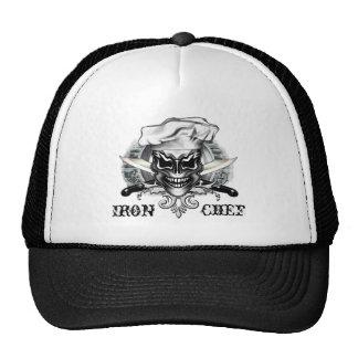 Gorra del cráneo del cocinero: Cocinero del hierro