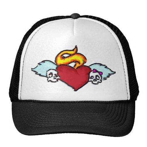 gorra del cráneo del tatuaje del emo