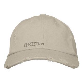 gorra del Cristiano-vintage Gorra Bordada
