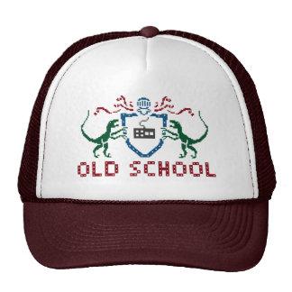 Gorra del dinosaurio de la escuela vieja del pixel