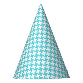 Gorra del fiesta de Houndstooth de la aguamarina