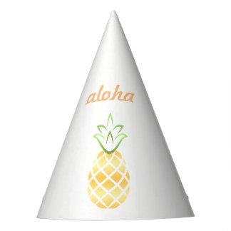 Gorra del fiesta de la piña de la hawaiana -
