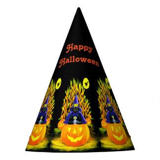 Gorra del fiesta del gato negro de Halloween