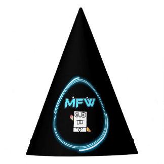 Gorra del fiesta del logotipo del mundo de