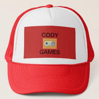 Gorra del funcionario de los juegos de Cody