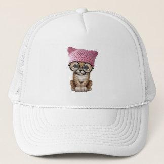 Gorra del gatito de Cub del guepardo que lleva