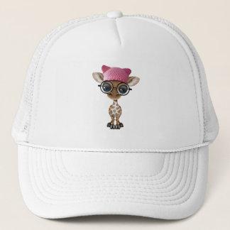 Gorra del gatito de la jirafa linda del bebé que