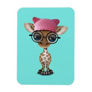 Gorra del gatito de la jirafa linda del bebé que imán flexible