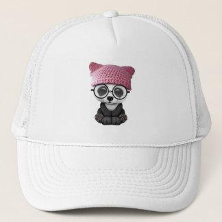 Gorra del gatito de la panda linda del bebé que