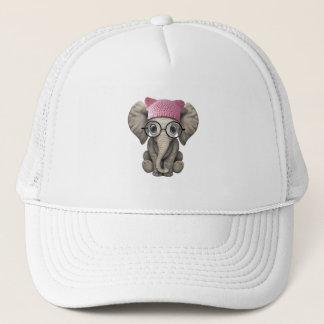 Gorra del gatito del elefante lindo del bebé que