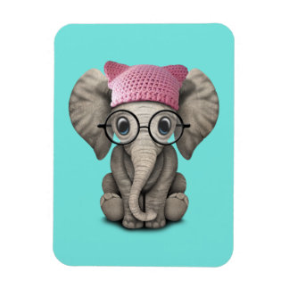 Gorra del gatito del elefante lindo del bebé que iman