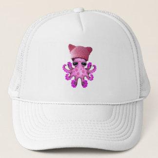 Gorra del gatito del pulpo que lleva rosado lindo