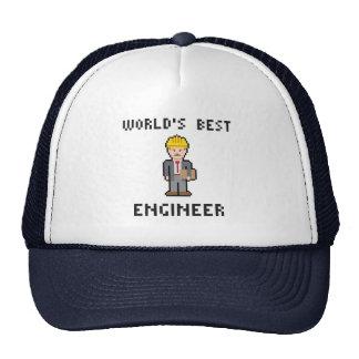 Gorra del ingeniero del mundo del pixel el mejor