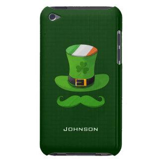 Gorra del Leprechaun del trébol de la bandera y de iPod Case-Mate Fundas