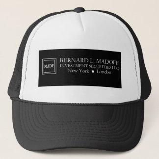 Gorra del logotipo de Madoff