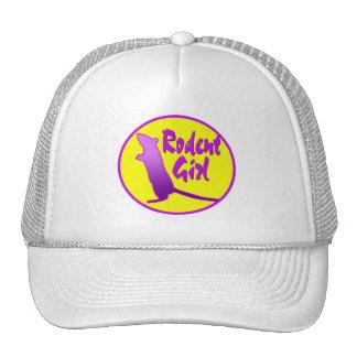 Gorra del logotipo del chica del roedor