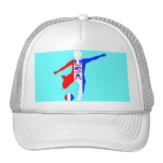 Gorra del logotipo del fútbol de las mujeres de lo