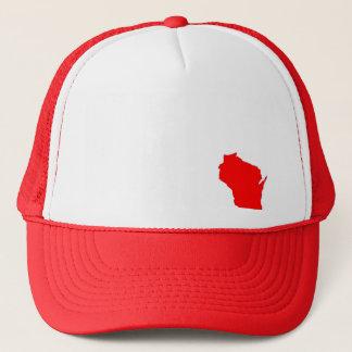 Gorra del mapa del estado de Wisconsin