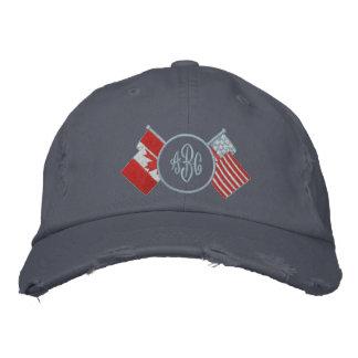 Gorra del monograma de Canadá - los E.E.U.U.