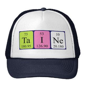 Gorra del nombre de la tabla periódica de Taine