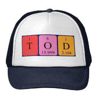 Gorra del nombre de la tabla periódica de Tod