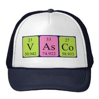 Gorra del nombre de la tabla periódica de Vasco