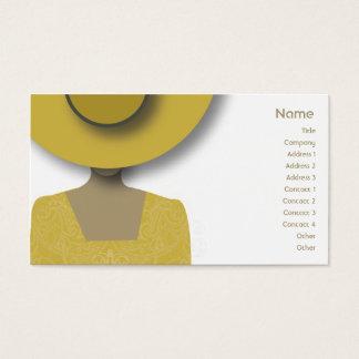 Gorra del oro - negocio tarjeta de visita