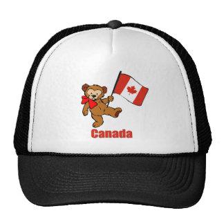 Gorra del oso de peluche de Canadá