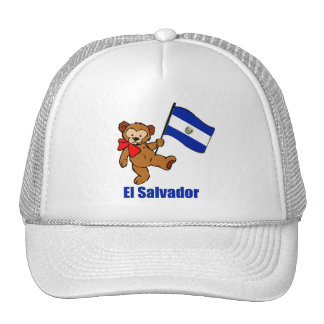 Gorra del oso de peluche de El Salvador
