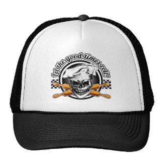 Gorra del panadero del cráneo: Deje el buen rollo