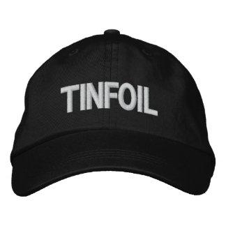 Gorra del papel de estaño gorra bordada
