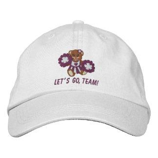 Gorra del peluche del espíritu de equipo gorras de béisbol bordadas