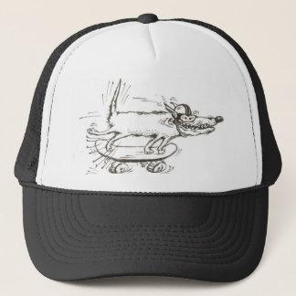 gorra del perro del monopatín