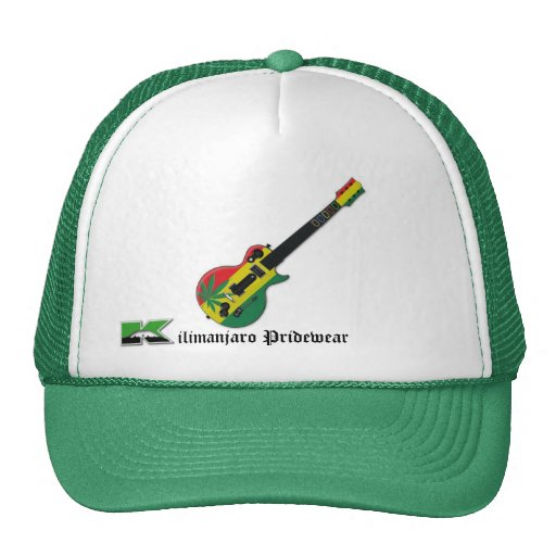 gorra del perseguidor de la guitarra del rasta