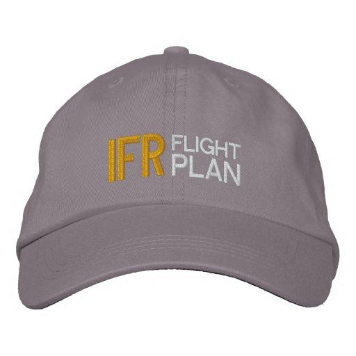Gorra del piloto del plan de vuelo de IFR Gorra De Béisbol Bordada