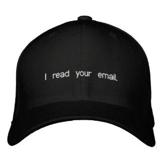 Gorra del pirata informático - leí su correo