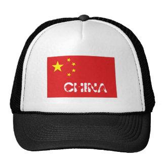Gorra del recuerdo de la bandera de China