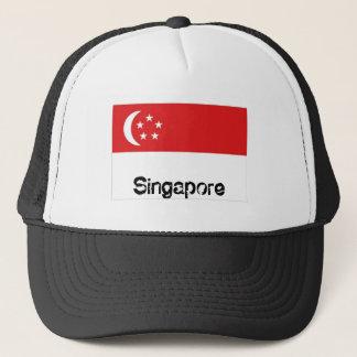 Gorra del recuerdo de la bandera de Singapur