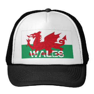 Gorra del recuerdo de la bandera del cymru de País