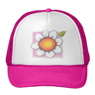 Gorra del rosa de la alegría de la margarita