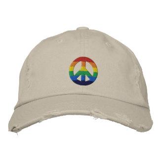 Gorra del signo de la paz del arco iris GLBT