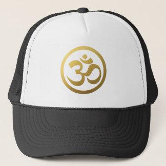 Gorra del símbolo de OM del oro